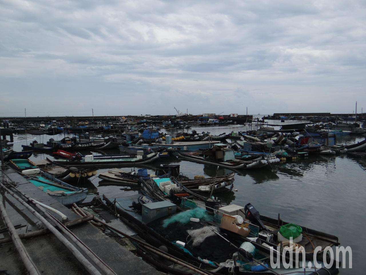台子漁港幾乎都受汙染,船筏都未出海。記者蔡維斌/攝影