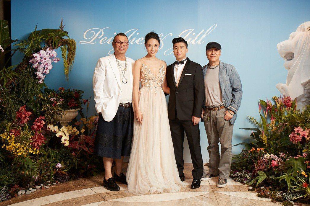 名模邱馨慧台北婚宴,凱渥創辦人洪偉明(左)到場祝福。圖/凱渥提供