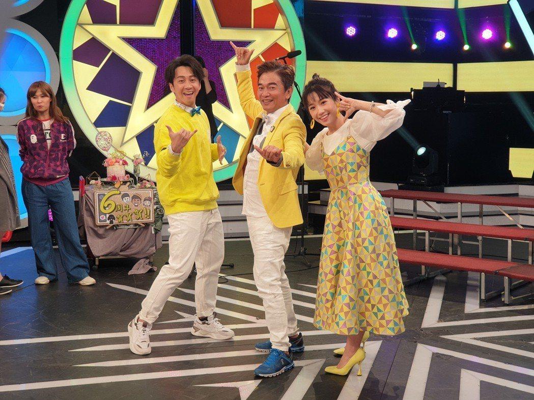 吳宗憲跟Lulu陳漢典慶祝節目開播6年。記者李姿瑩/攝影