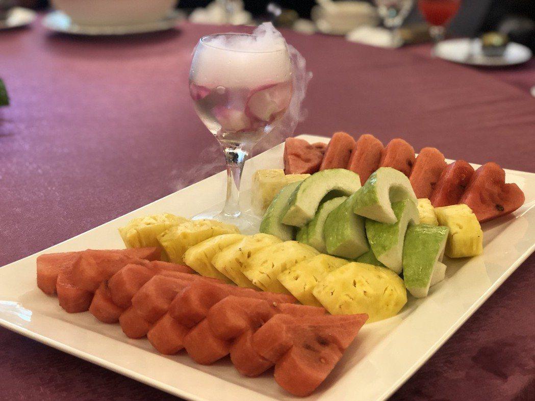 水果切盤。記者王慧瑛/攝影