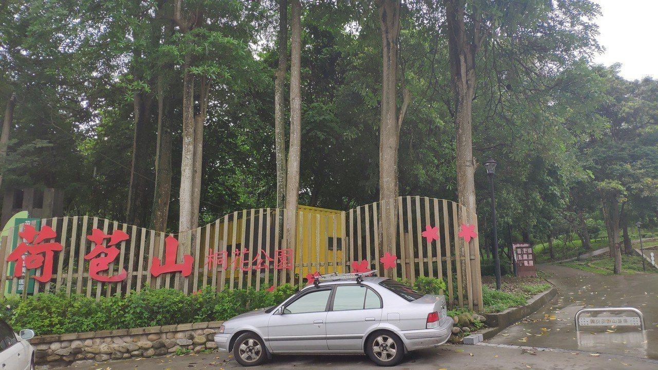 荷苞村荷苞山公園5.6公頃大,但每年僅有舉辦兩次活動。記者李京昇/攝影