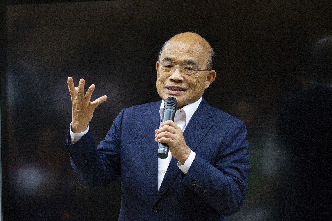 行政院長蘇貞昌指出,韓國瑜選市長一再說高雄發大財,有3千億不用靠中央,現在全國的...
