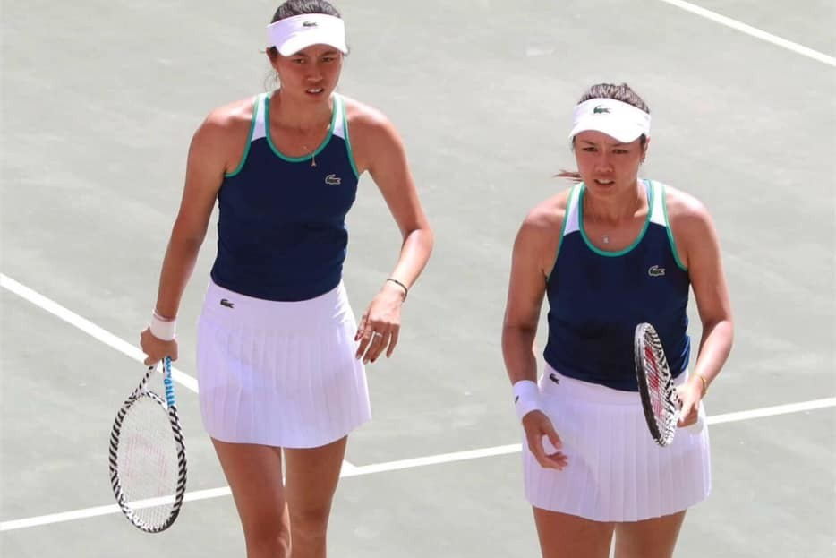詹家姊妹轉戰伊斯特本網賽,拚草地開胡。 截圖自詹詠然粉絲團