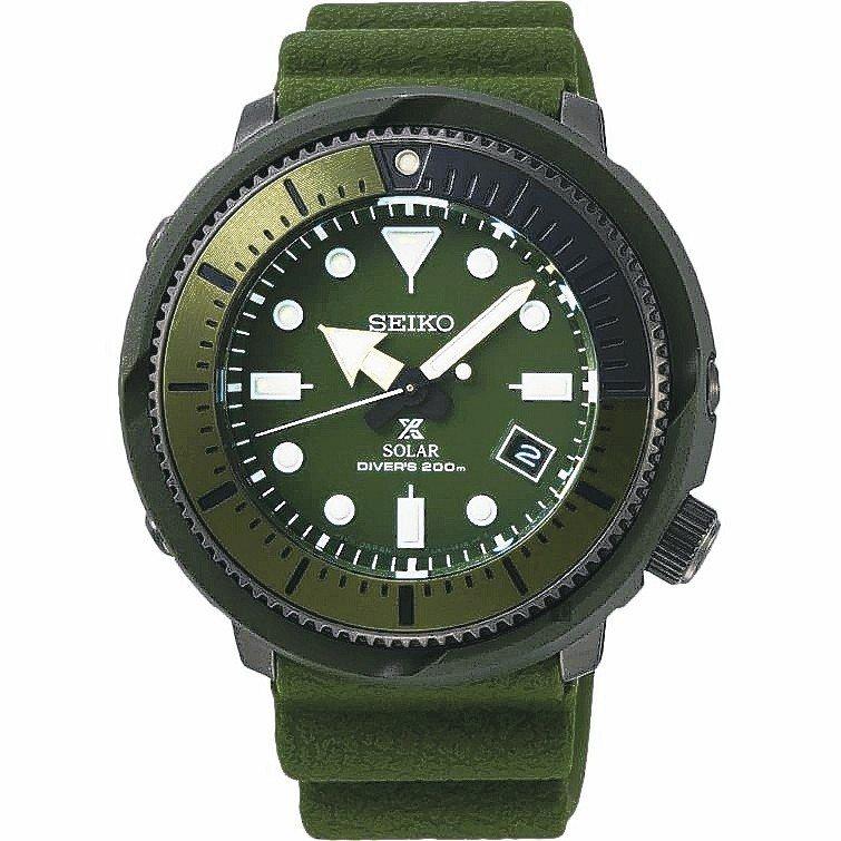 SEIKO Prospex Diver太陽能手表,可支援200米潛水。 圖/ud...