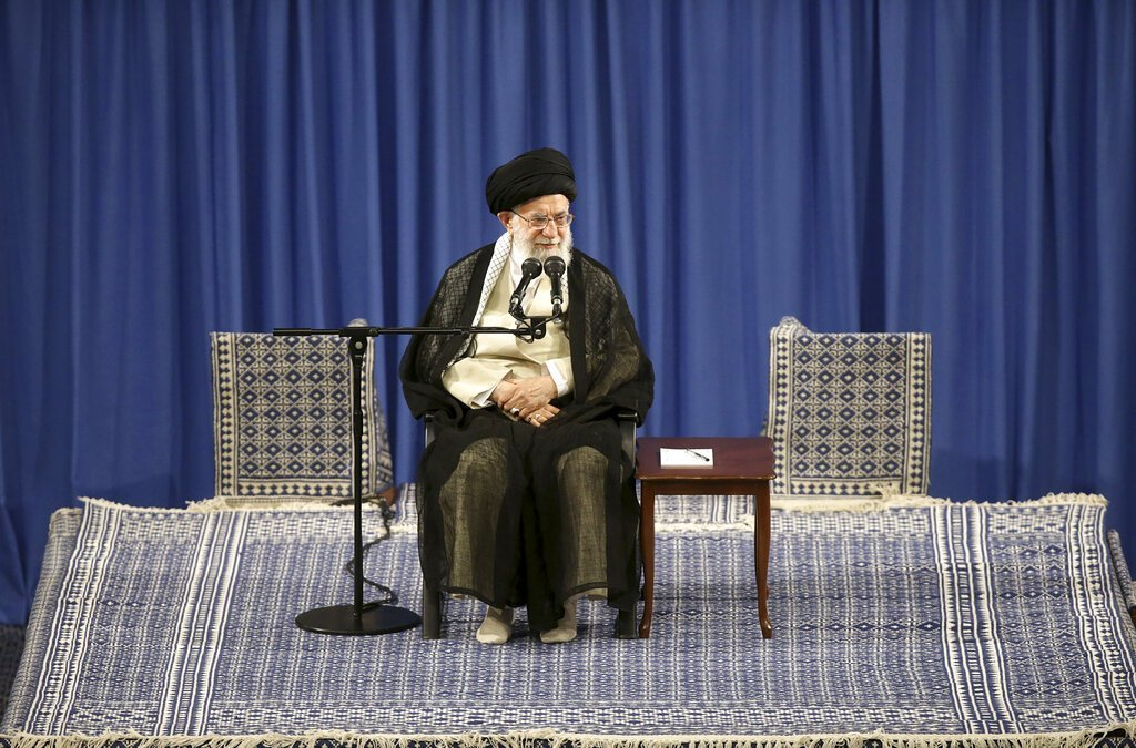 伊朗最高領袖哈米尼。 美聯社資料照