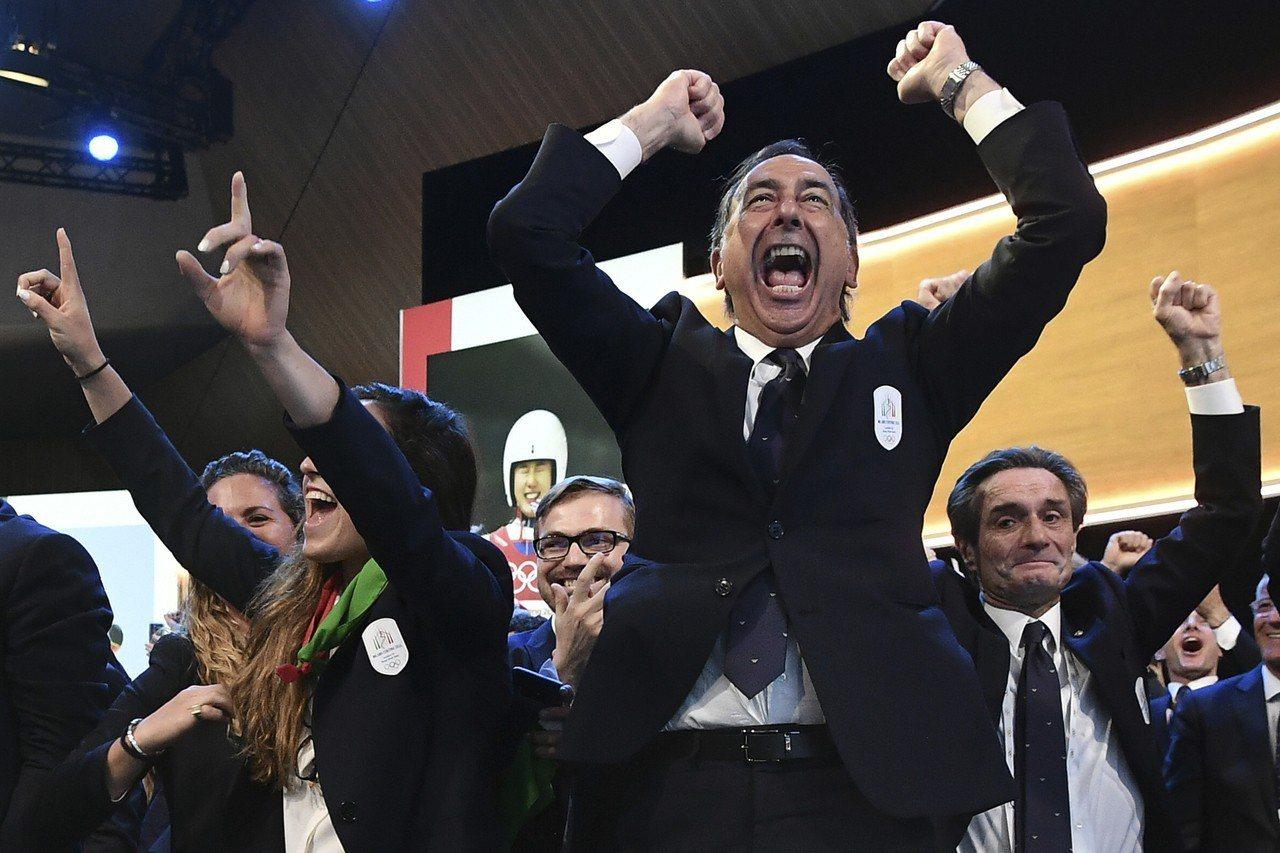 國際奧會今天宣布,2026年冬季奧運由義大利米蘭市搶下。 美聯社