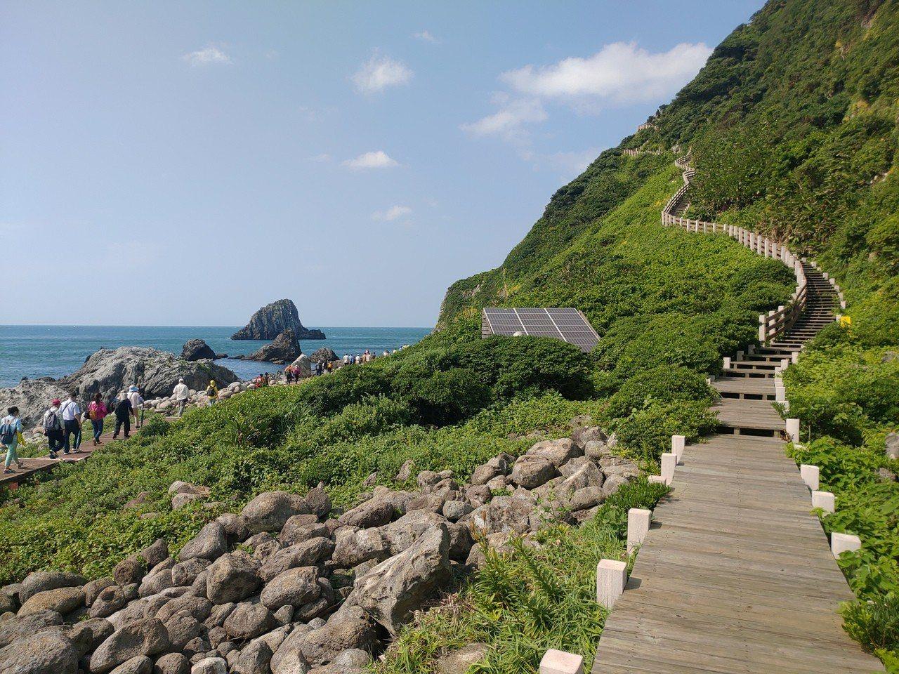 因遭受蘇力颱風襲擊而封島5年的基隆嶼,有台灣龍珠之稱,以嶄新面貌重新對外開放登島...