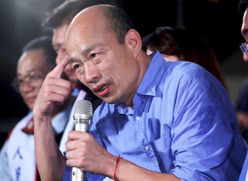 高雄市長韓國瑜近來陷入連遭國高中生以各種形式當面嗆聲的窘境。 圖/聯合報系資料照