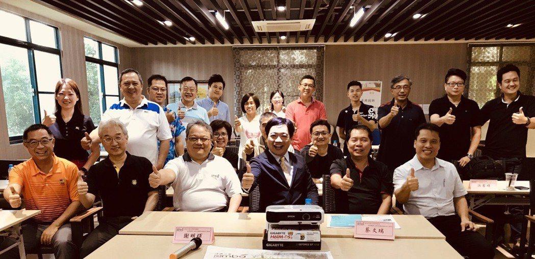 中興大學第一屆EMBA越南台商班課後合影。 圖/TIRI 提供