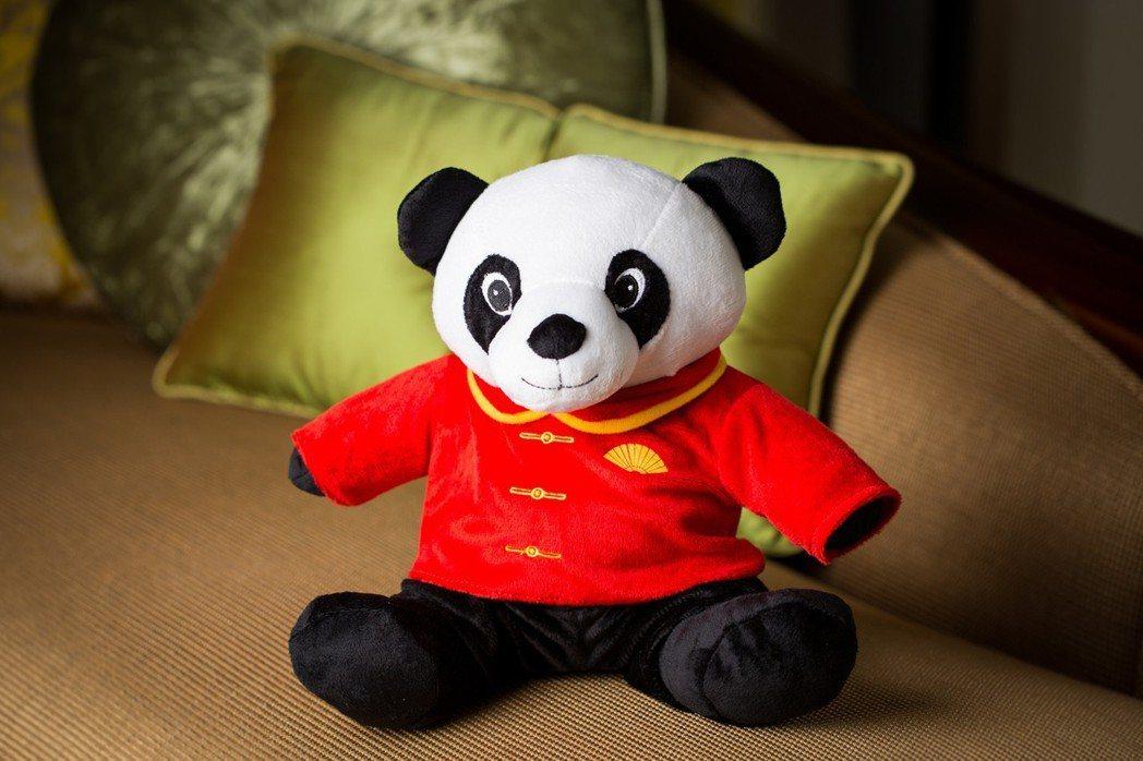 文華東方限定貓熊玩偶。