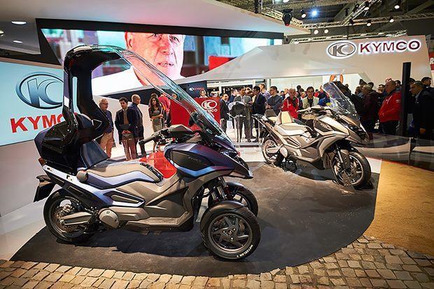 每年底在米蘭的國際機車展,就是光陽機車嶄露頭角的時機,攤位比許多日本與歐洲廠商都大上好幾倍,氣勢就不輸人。 (取自光陽官網)