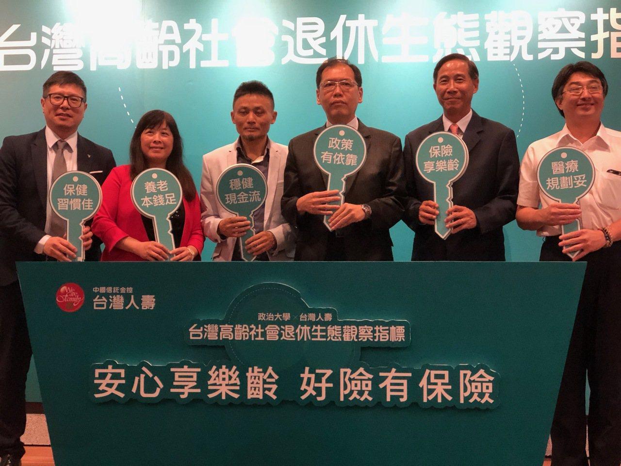 政治大學商學院風險與保險研究中心與台灣人壽攜手,首度以台灣確定給付型態之退休金制...