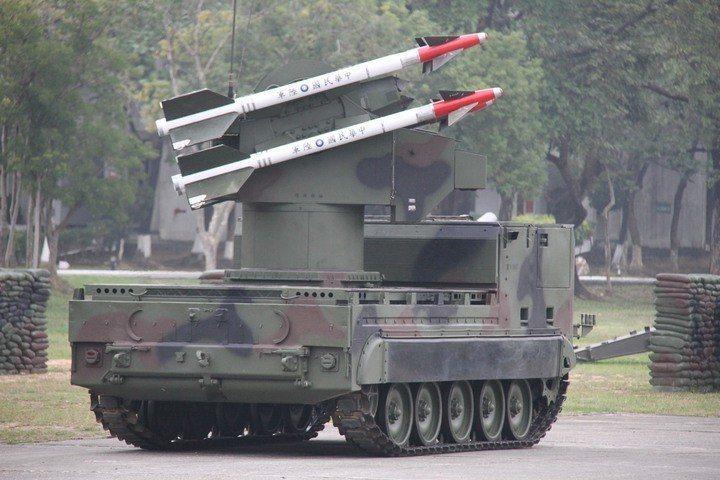 陸軍8軍團的檞樹防空飛彈。記者洪哲政/攝影