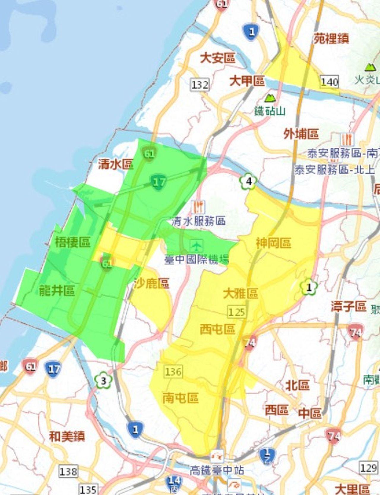 自來水公司緊急搶修鯉魚潭給水廠原水管線設備,台中市10萬3千戶從今天下午2時起停...