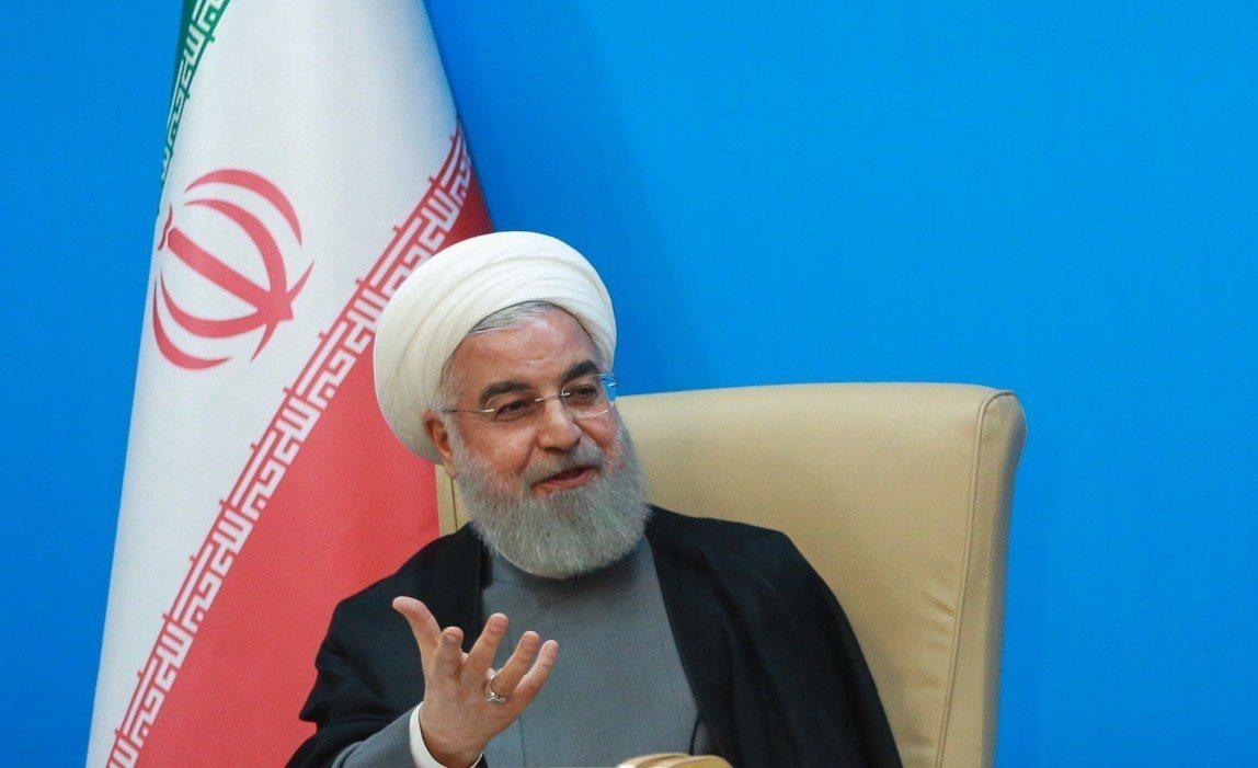 伊朗總統羅哈尼(Hassan Rouhani)。歐新社
