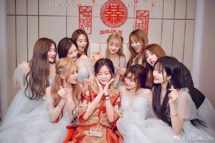 韓安冉婚禮請來一堆網紅參加。圖/摘自微博