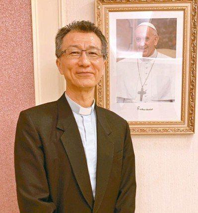 天主教會台灣地區主教團秘書長、陳科神父。 王柏云/攝影