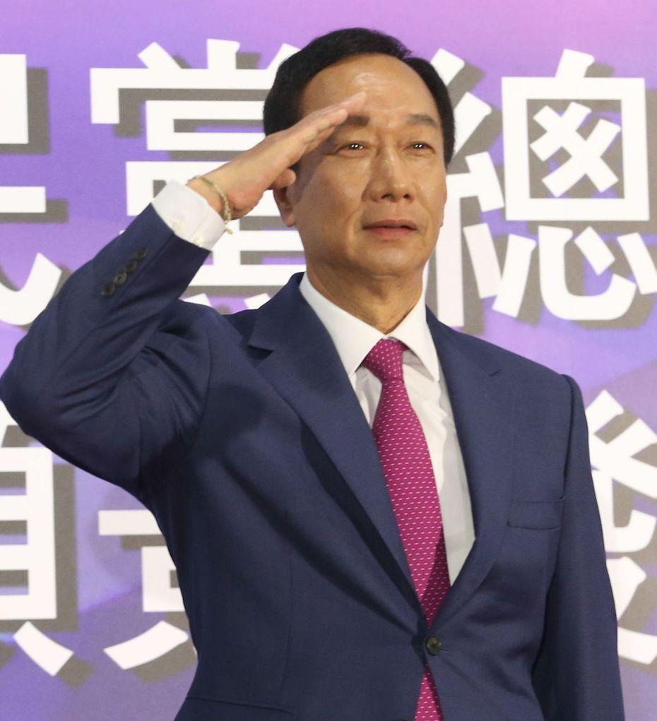 國民黨總統初選參選人郭台銘。 記者葉信菉/攝影
