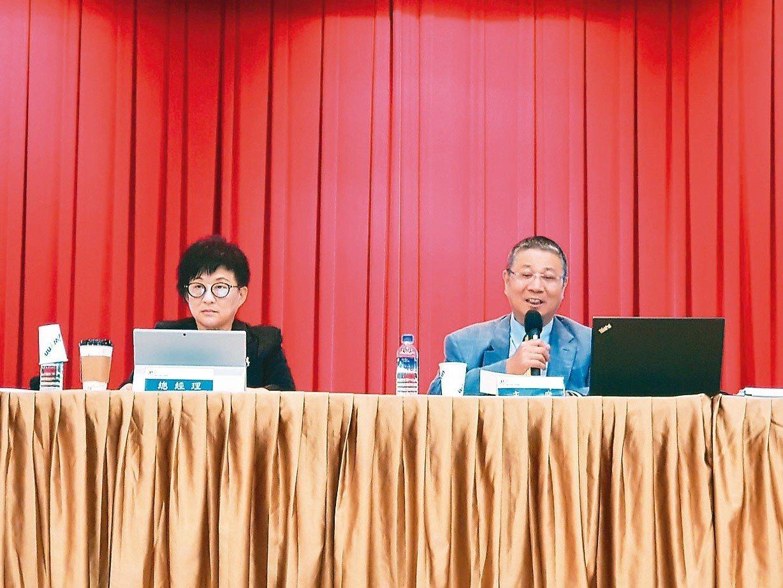 緯穎董事長林憲銘(右)與總經理洪麗甯。 緯穎/提供