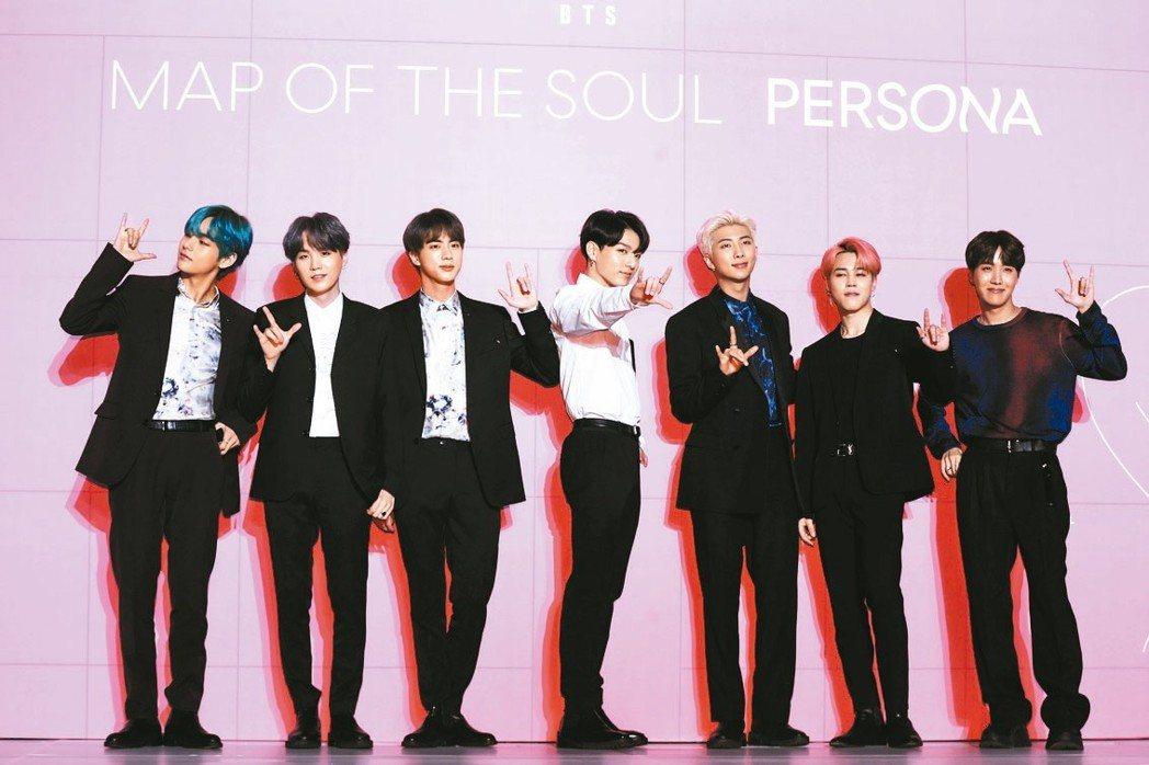當紅南韓團體BTS。 美聯社
