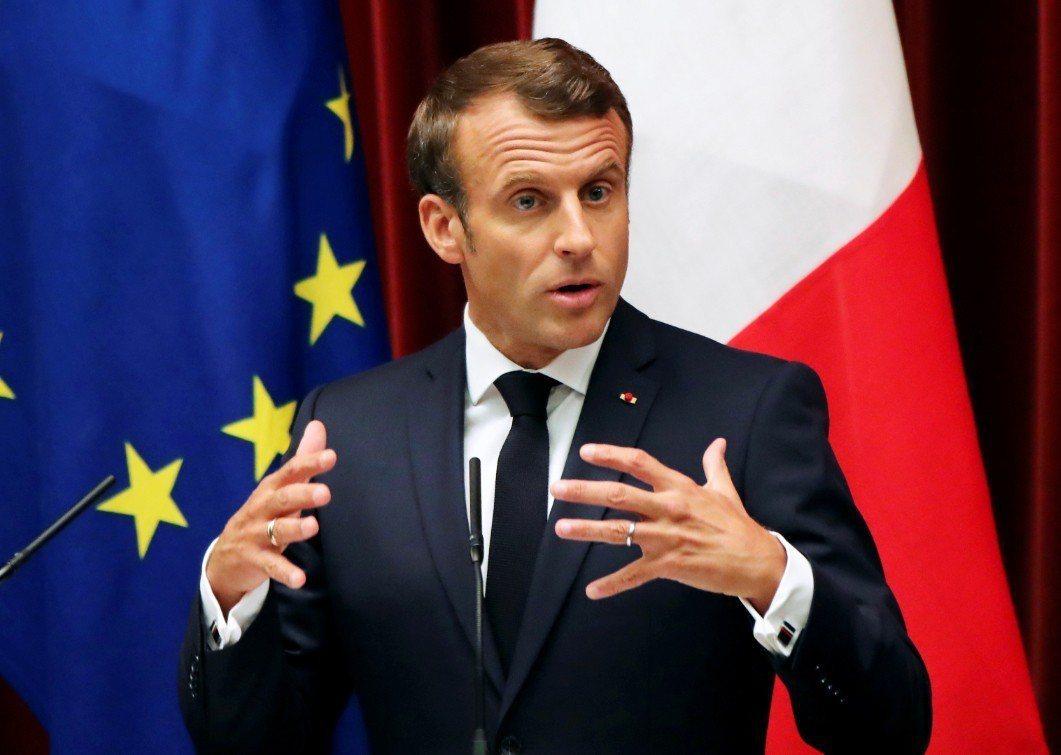 法國總統馬克宏。 路透社