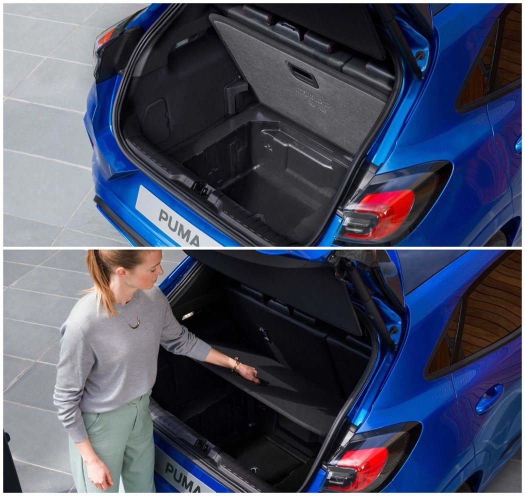 Ford Puma 還有內建隱藏式收納空間。 摘自Ford