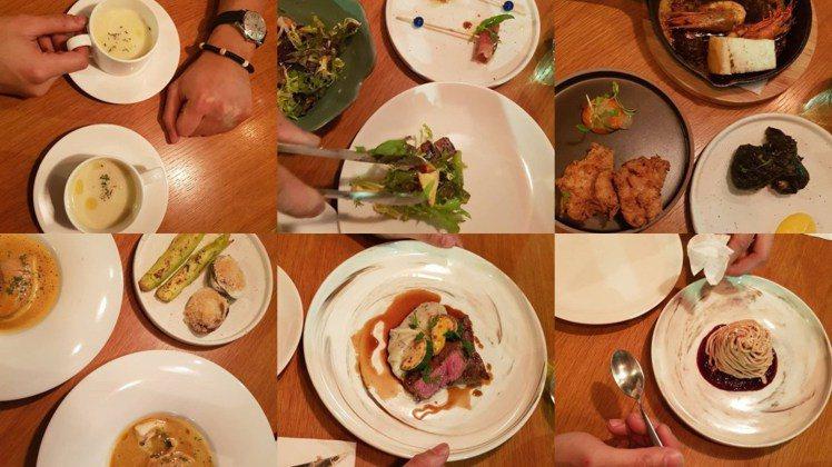 「主廚特選」超過 10 道以上菜色,圖片中的還只是的冰山一角而已啊!圖/女子學提...