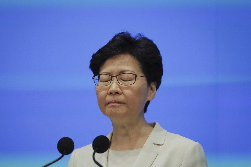 香港近日的反送中事件,平白送給川普一個大禮,可以當做施壓中共的籌碼。圖為香港特首林鄭月娥。 圖/美聯社