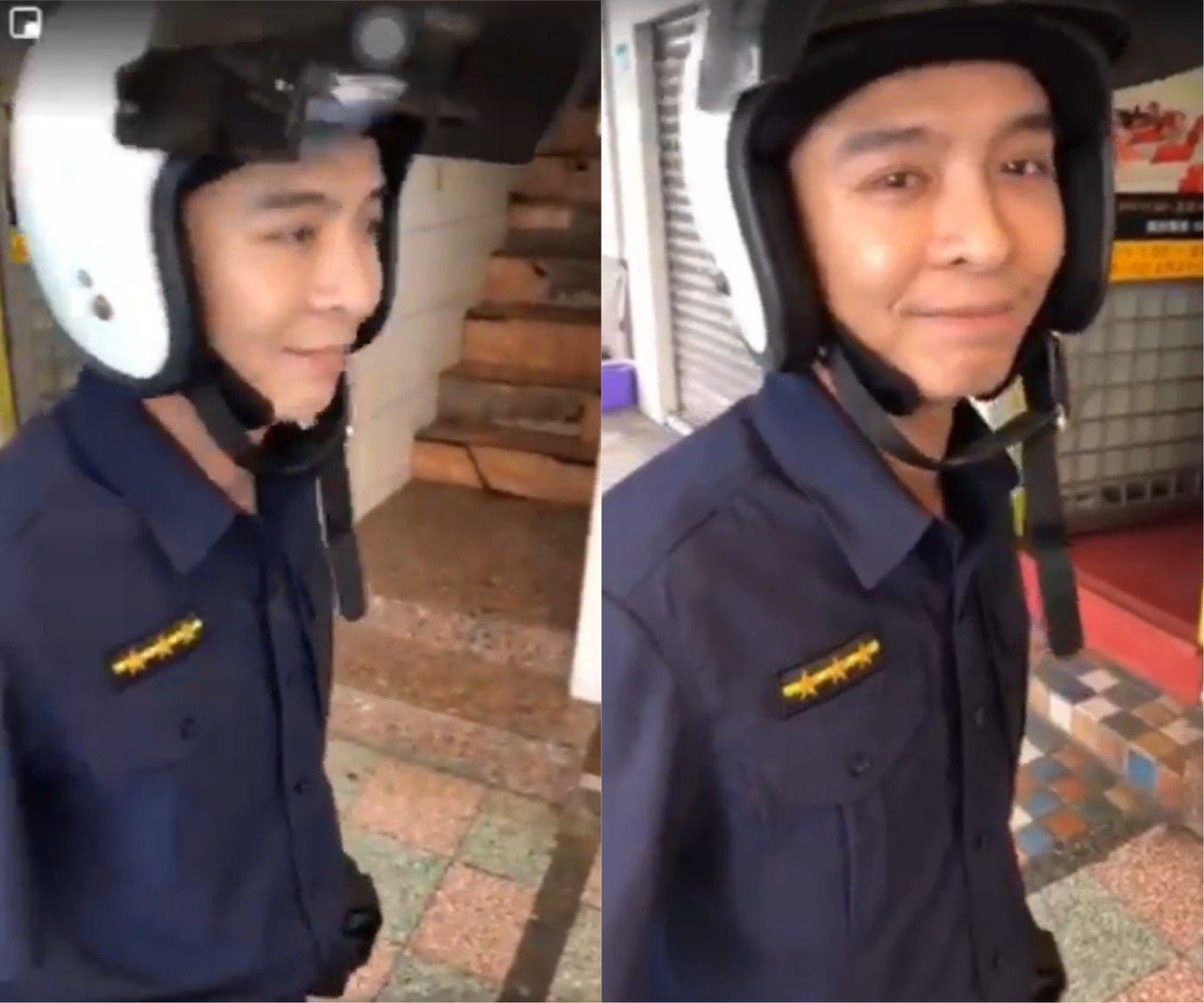 網友表示該名被拍攝的警察全程都十分冷靜,且脾氣超好,完全沒有露出不耐煩的語氣與神...