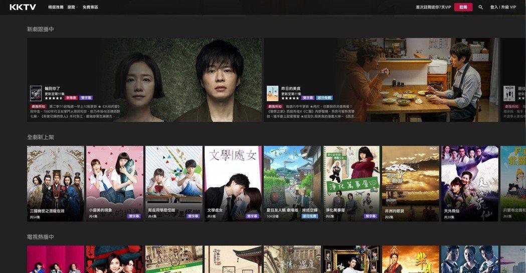 KKTV每季同步日本跟播7至11部當紅日劇,跟播數量居台灣串流影音平台之冠。 K...