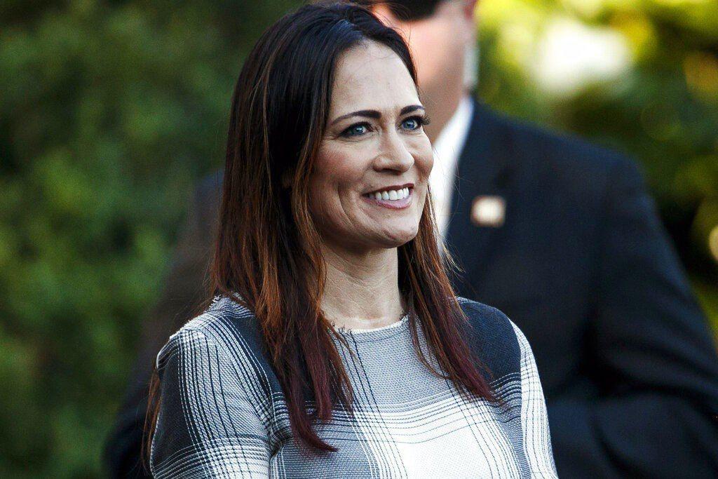 美國第一夫人梅蘭妮亞辦公室發言人葛瑞珊(圖)將接任白宮發言人。