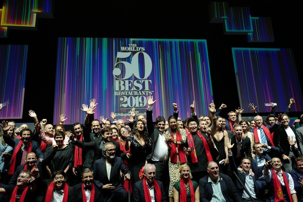 2019世界50最佳餐廳6月25日晚間在新加坡舉行頒獎典禮。圖/Liz高琹雯提供