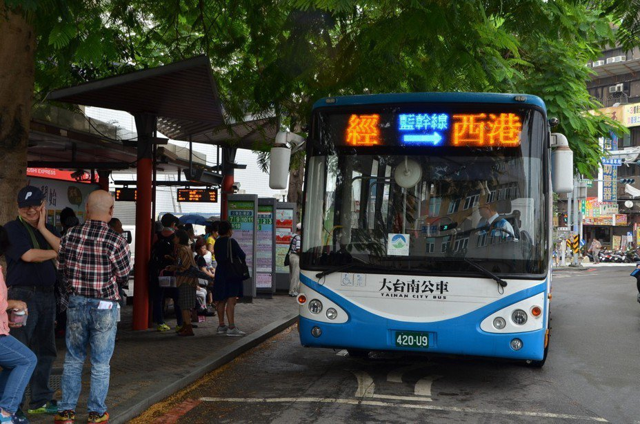 台南市今年1到4月公車運量成長比例為六都第一。圖/台南市交通局提供