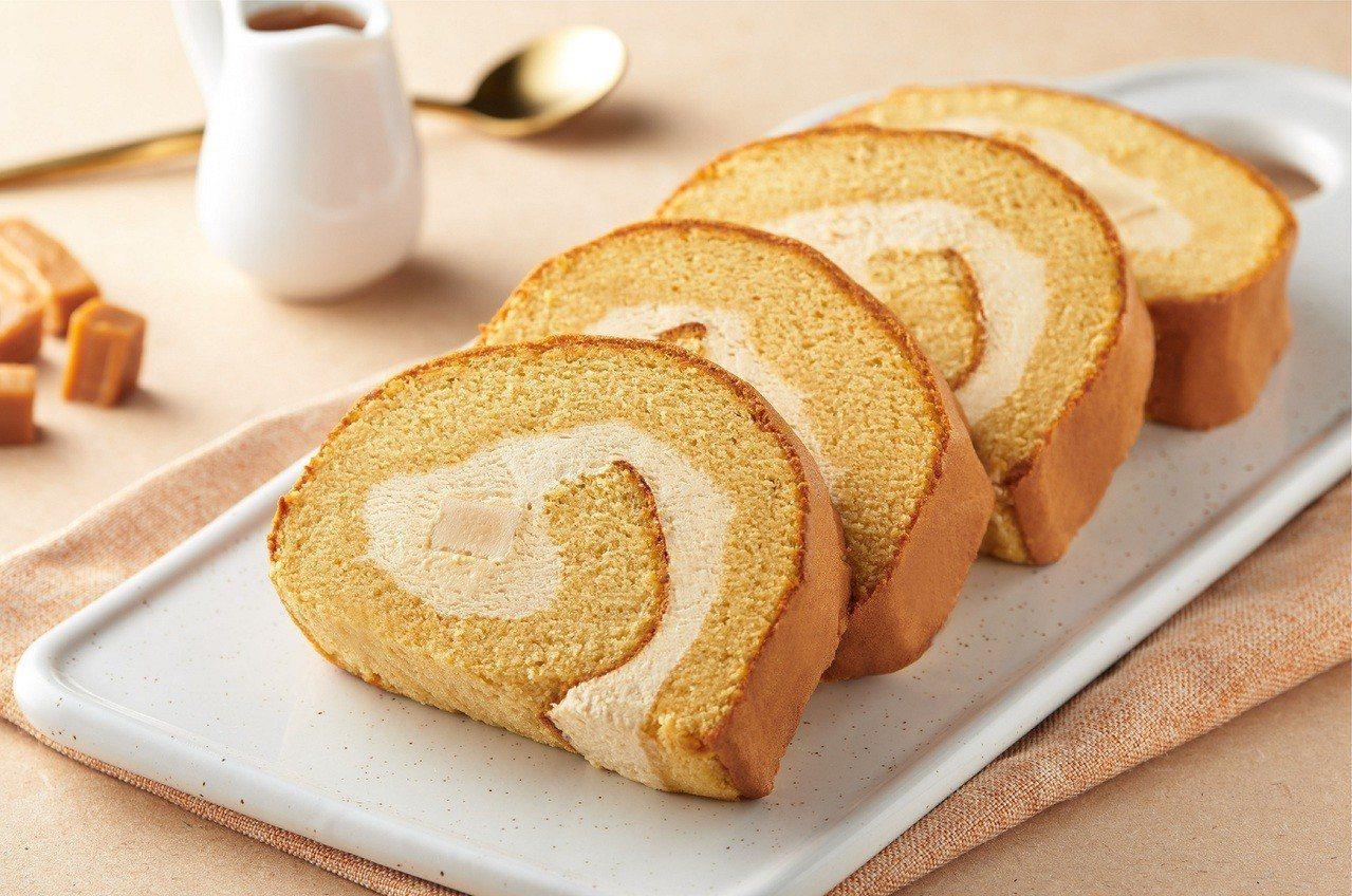 「冰心捲蛋糕-牛奶糖生巧」口感甜而不膩,售價99元/盒。圖/全聯提供