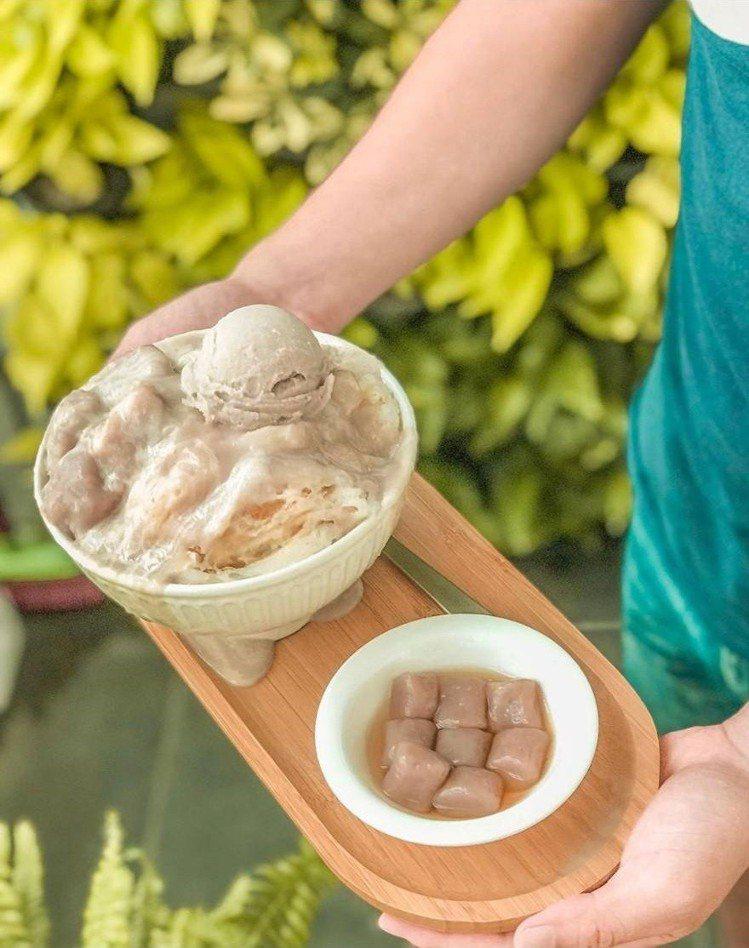 「呷丸味」的「芋頭白雪冰」讓芋頭控瘋狂。IG @a0925098921 提供
