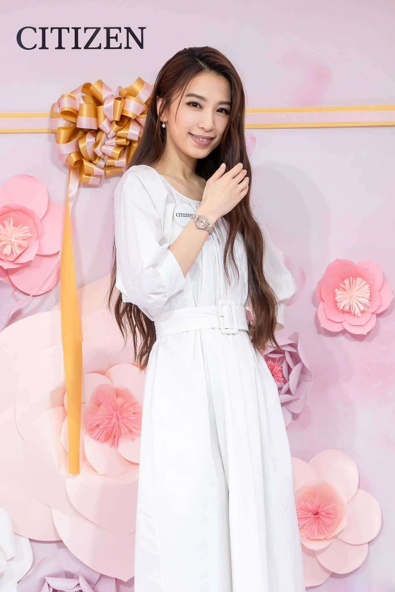 Hebe田馥甄出席CITIZEN時光花坊開幕記者會。圖/星辰表提供