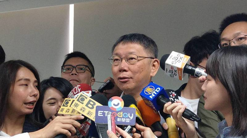 韓國瑜擔任北農總經理時期年薪被爆超過400萬元,台北市長柯文哲說有可能。記者楊正海/攝影