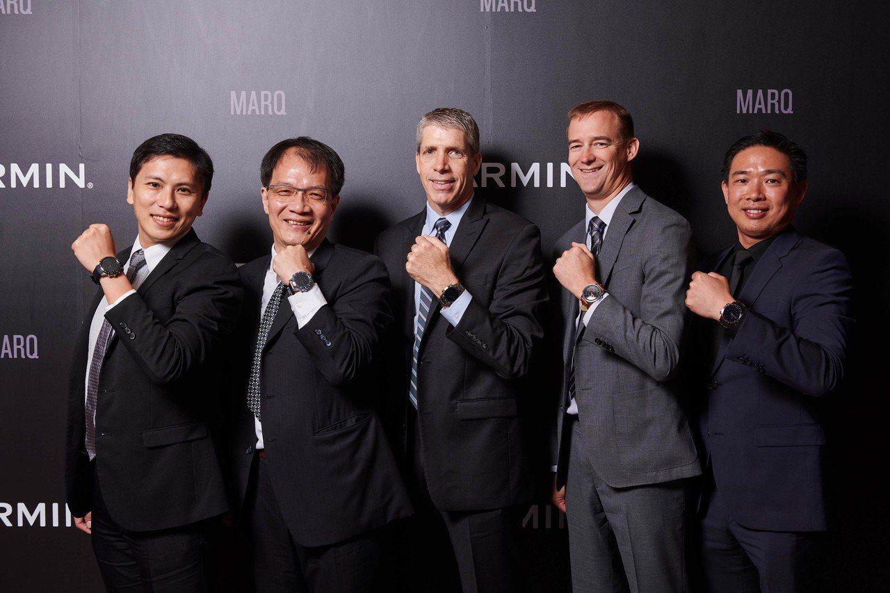Garmin歡慶30周年,在台發表新品,圖左起Garmin亞太區行銷協理林孟垣、...