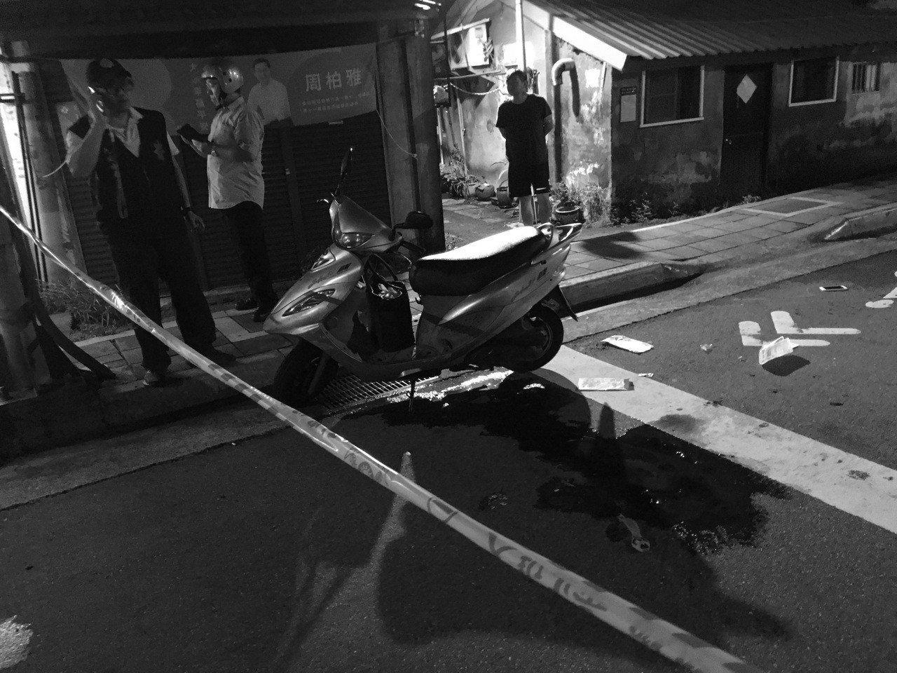 警方到場調查意外發生原因。記者李隆揆/攝影