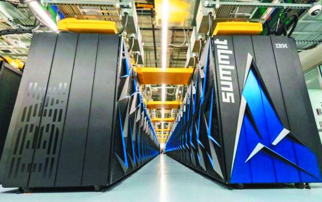 美國超級電腦「頂點」,運算速度全球第一。 圖/取自網路