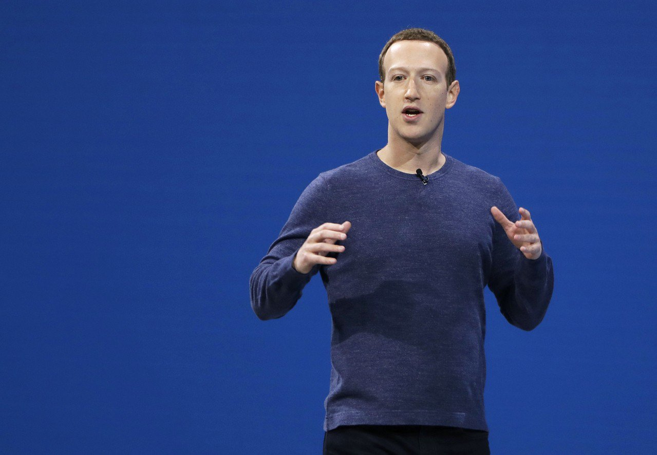 社群媒體臉書創辦人祖克柏。 美聯社