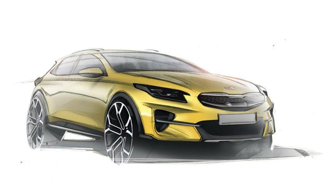 全新Kia XCeed設計圖。 摘自Kia