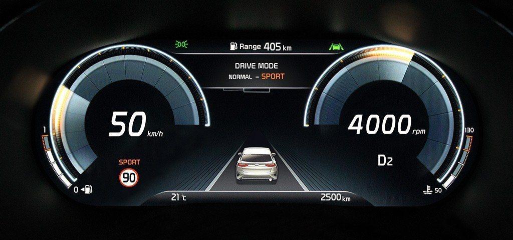 全新Kia XCeed使用全新12.3吋全數位儀表。 摘自Kia