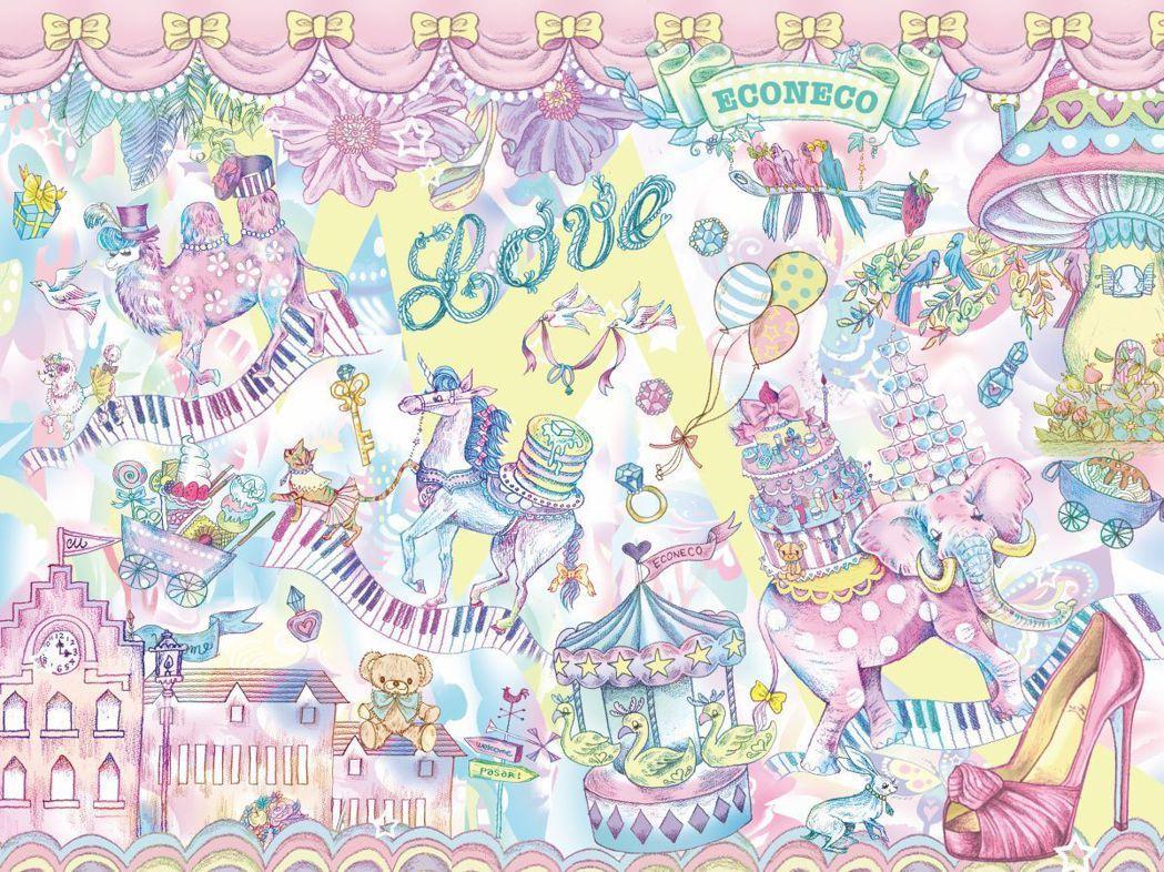 「ECONECO南西誠品快閃店」設計以插畫家繪子貓老師的代表作「Wonderla...