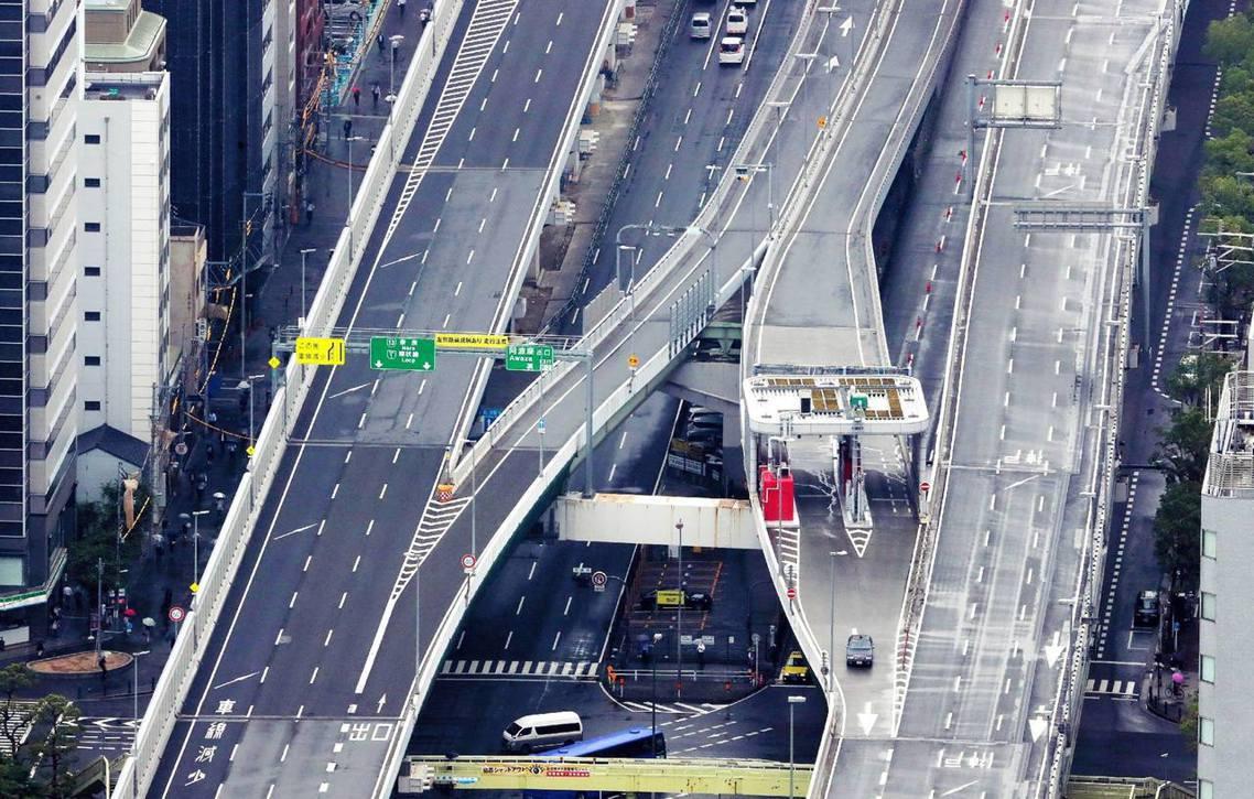 為了迎接G20大阪高峰會,日本27日正式啟動「史上最大規模」的陸上管制。 圖/法...