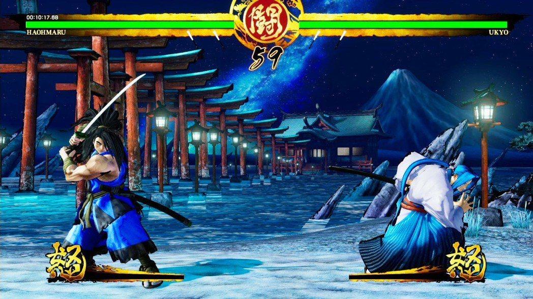 當初在電玩間看到初代《侍魂》時,就是霸王丸跟橘右京兩人在海邊打鬥的畫面,這經典畫...