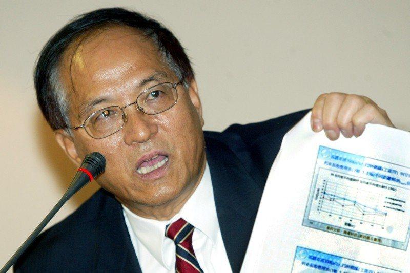 2006年4月,謝清志在立院科資委員會,就「南部科學工業園區高速鐵路減振招標過程及工程進度」做專案報告並備詢。 圖/聯合報系資料照