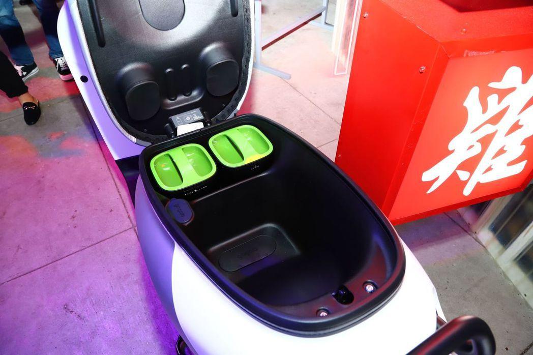 Yamaha EC-05 座椅收納空間。 記者張振群/攝影