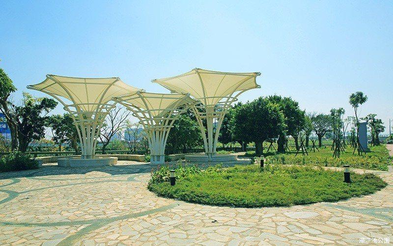 「竹城甲子園」緊鄰公園,景觀條件絕佳。 圖/A7地王竹城甲子園 提供