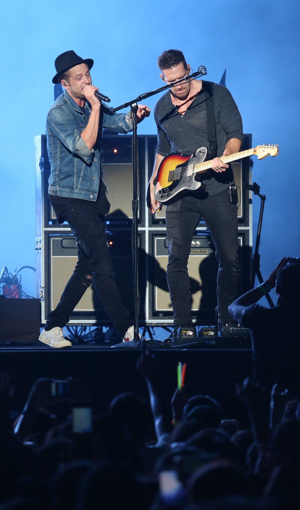 OneRepublic 2017年來台唱。圖/聯合報系資料照